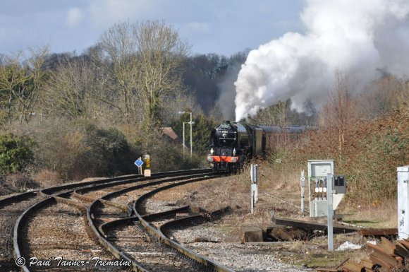 Tornado on its maiden run at Romsey Station.