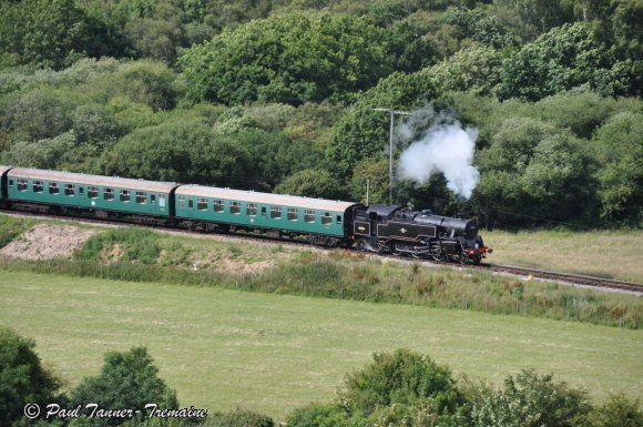 Loco passing Corfe Castle